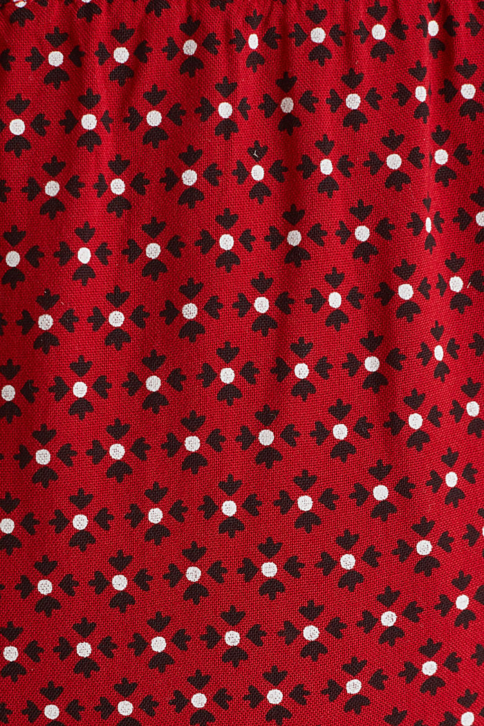 Nursing wrap dress, RED, detail image number 3