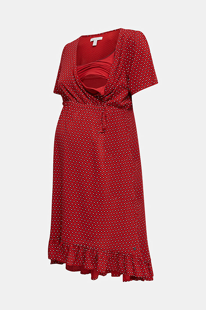 Nursing wrap dress, RED, detail image number 4