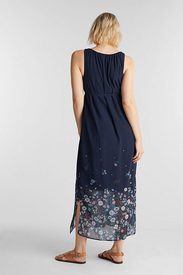 Maxi-Kleid aus Chiffon, NIGHT BLUE, detail image number 3