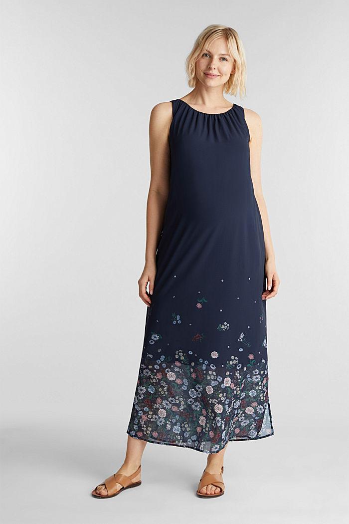 Maxi-Kleid aus Chiffon, NIGHT BLUE, detail image number 1