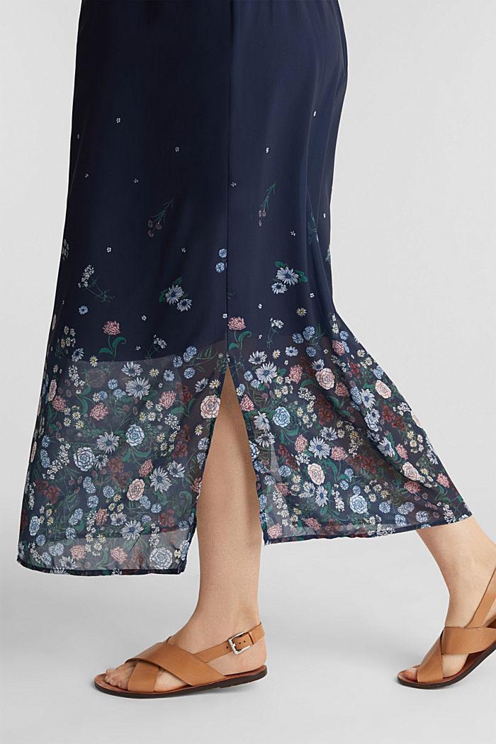 Maxi-Kleid aus Chiffon, NIGHT BLUE, detail image number 2