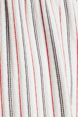 Nursing dress with textured stripes, LCOFF WHITE, detail