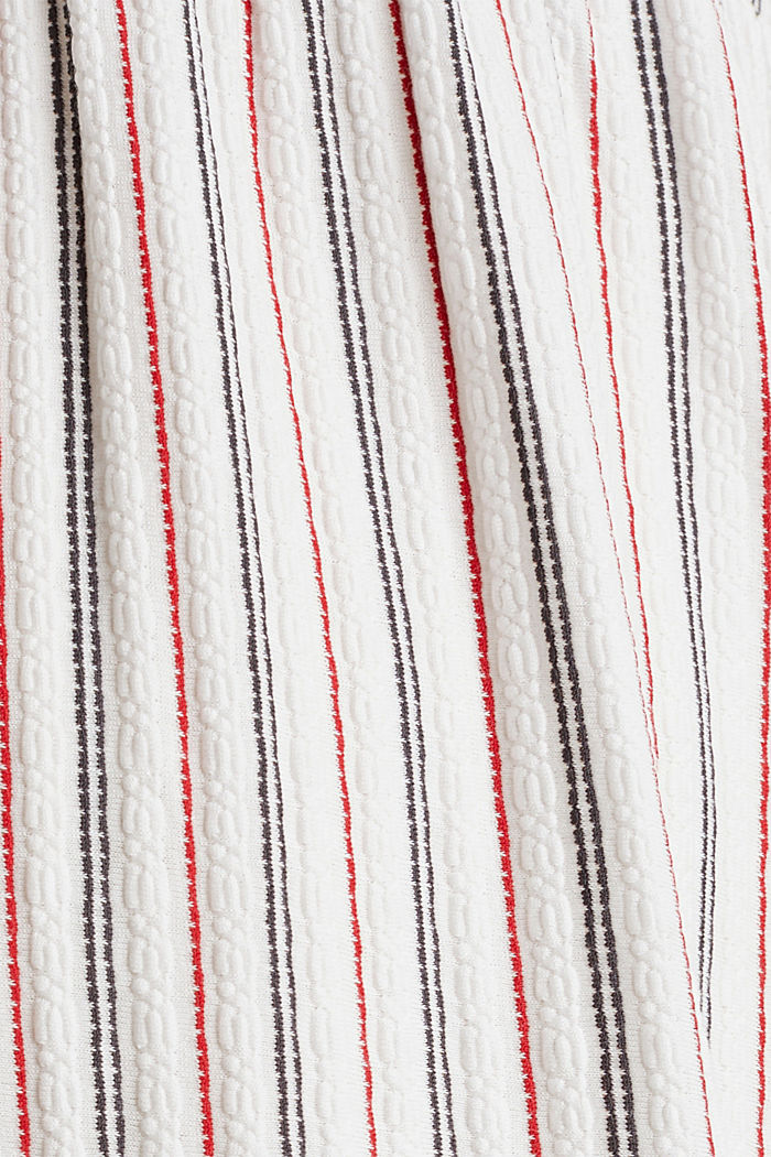Nursing dress with textured stripes, OFF WHITE, detail image number 4