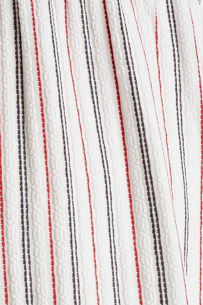 Still-Kleid mit Struktur-Streifen, OFF WHITE, detail image number 4