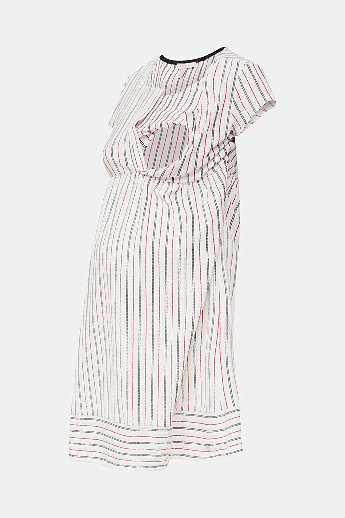 Still-Kleid mit Struktur-Streifen, OFF WHITE, detail image number 5