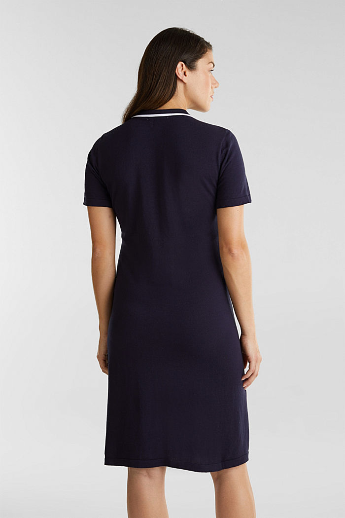 Polo-Strickkleid, 100% Baumwolle, NIGHT BLUE, detail image number 2
