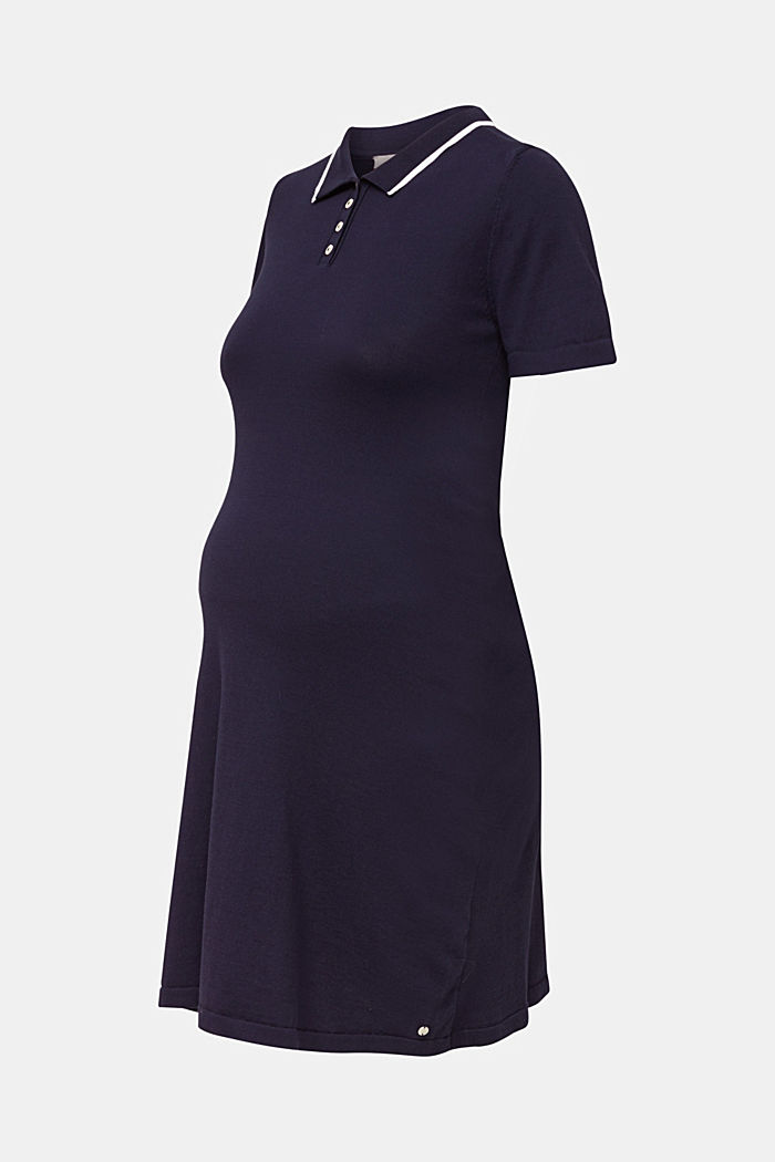 Polo-Strickkleid, 100% Baumwolle, NIGHT BLUE, detail image number 5