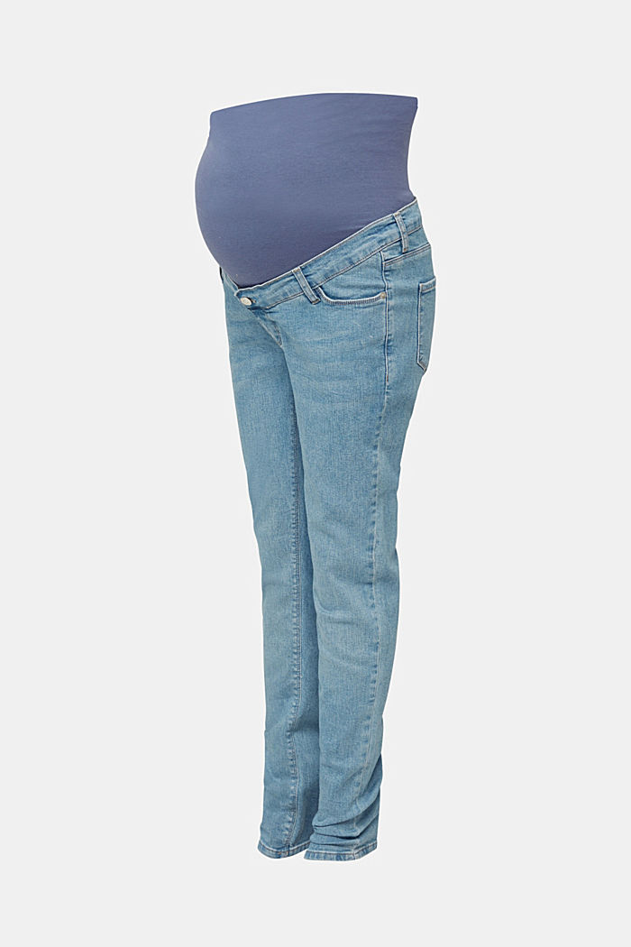 Basic jeans with an over-bump waistband