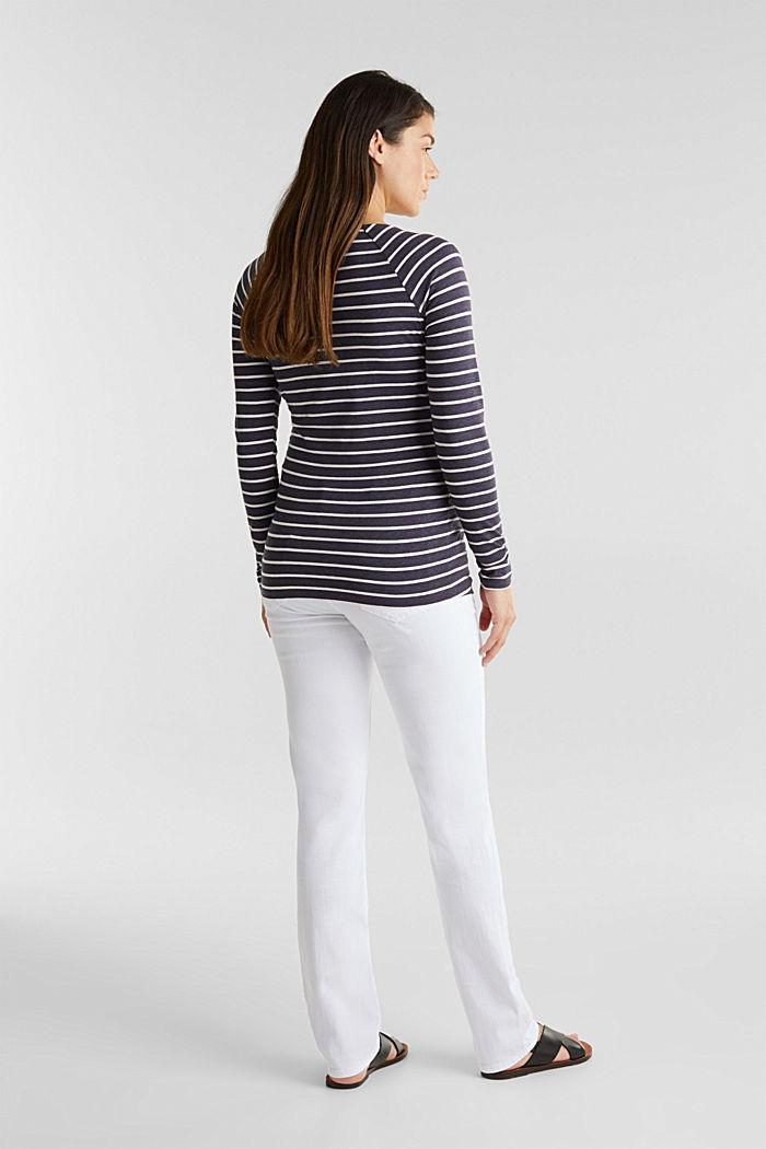 Basic-Jeans mit Überbauchbund, WHITE, detail image number 2