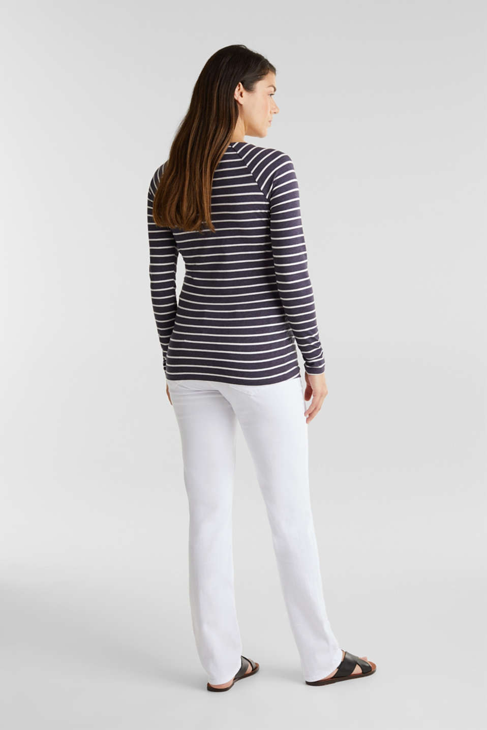 Basic jeans with an over-bump waistband, LCWHITE, detail image number 2