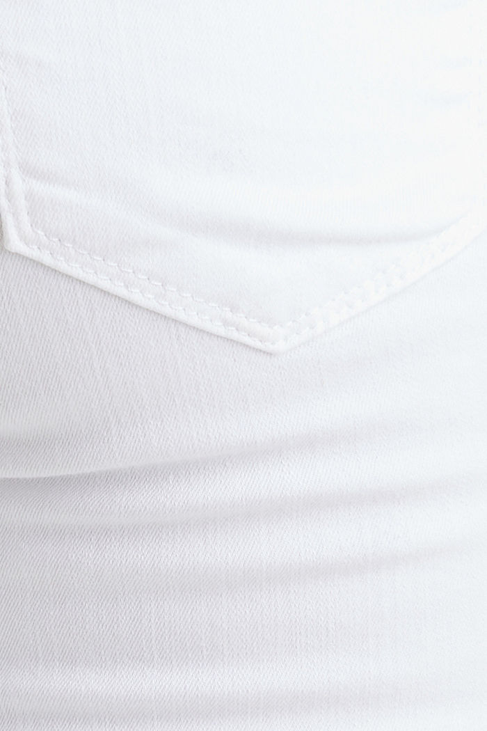 Basic jeans met band over de buik, WHITE, detail image number 2