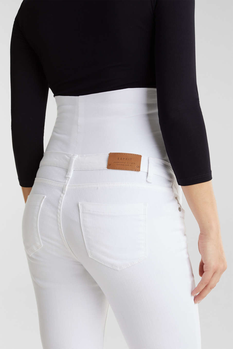 Basic jeans with an over-bump waistband, LCWHITE, detail image number 3
