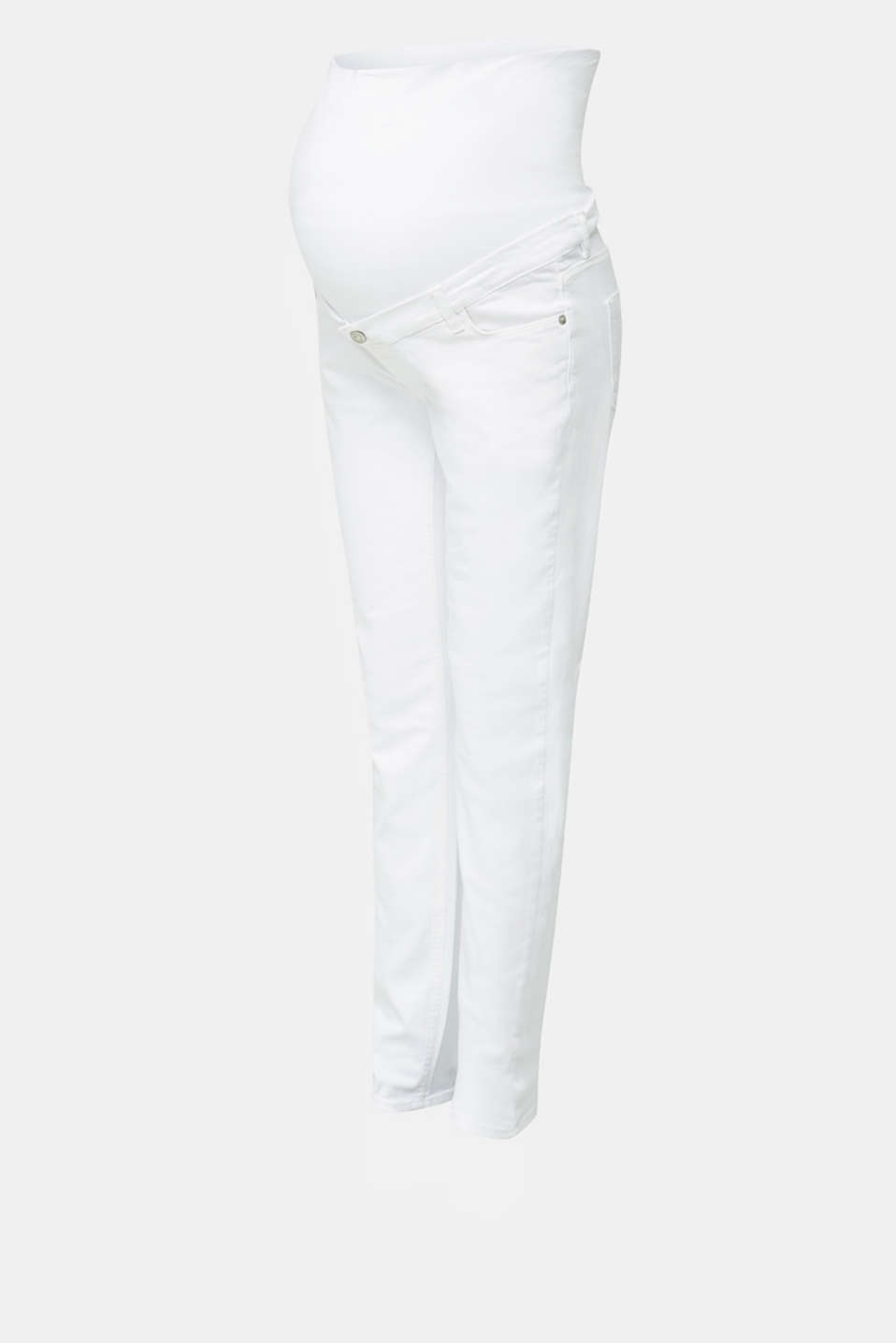 Basic jeans with an over-bump waistband, LCWHITE, detail image number 4