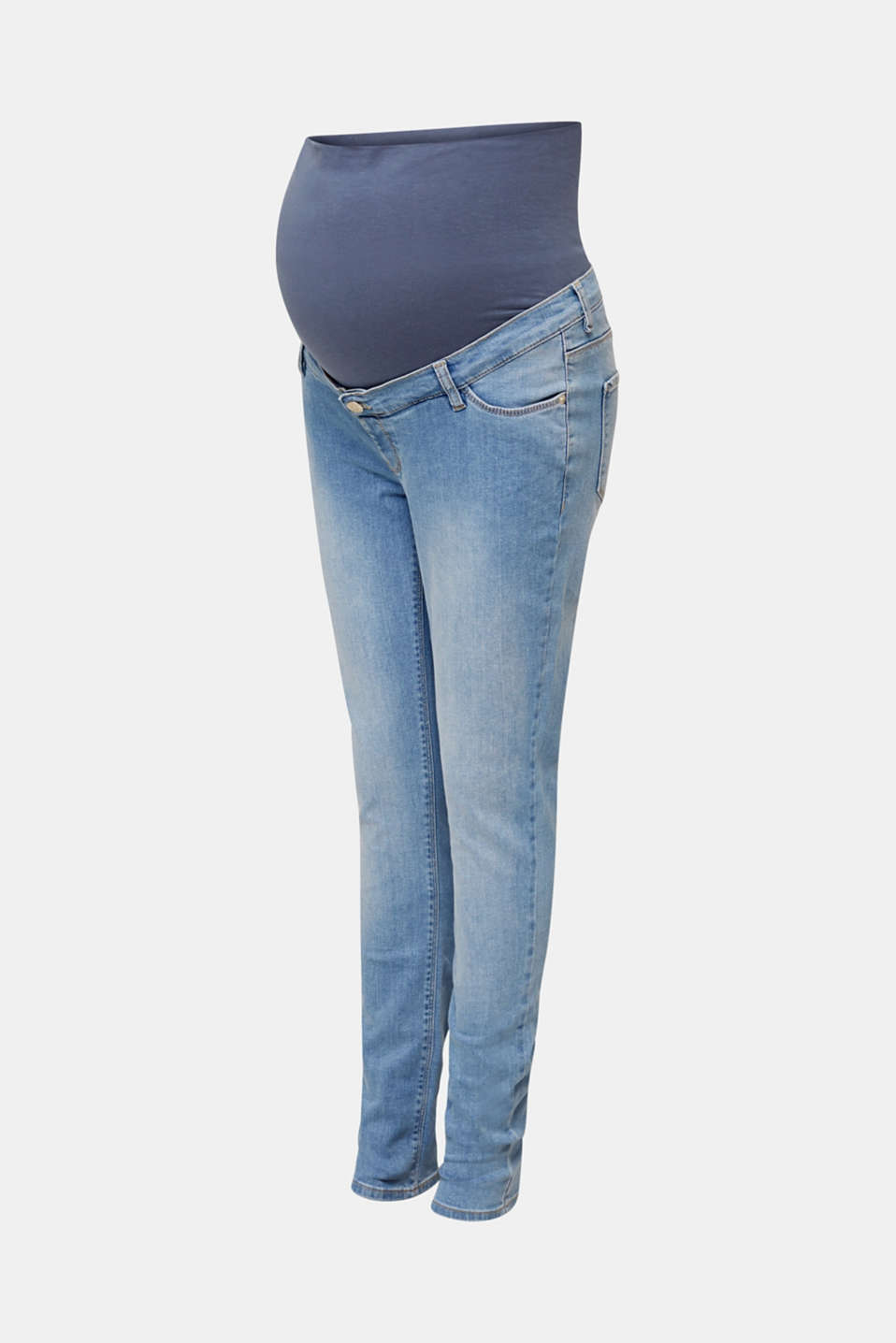 Basic jeans with an over-bump waistband, LCLIGHTWASH, detail image number 4
