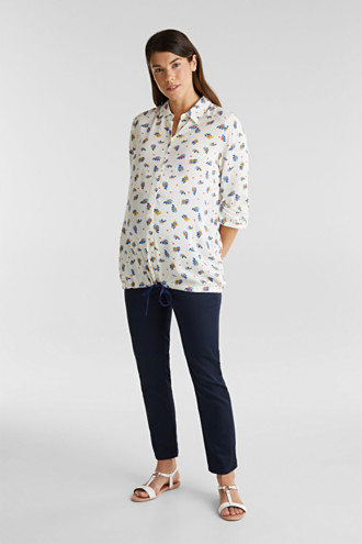 Ankle-length trousers, over-bump waistband