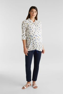 Ankle-length trousers, over-bump waistband, LCNIGHT BLUE, detail
