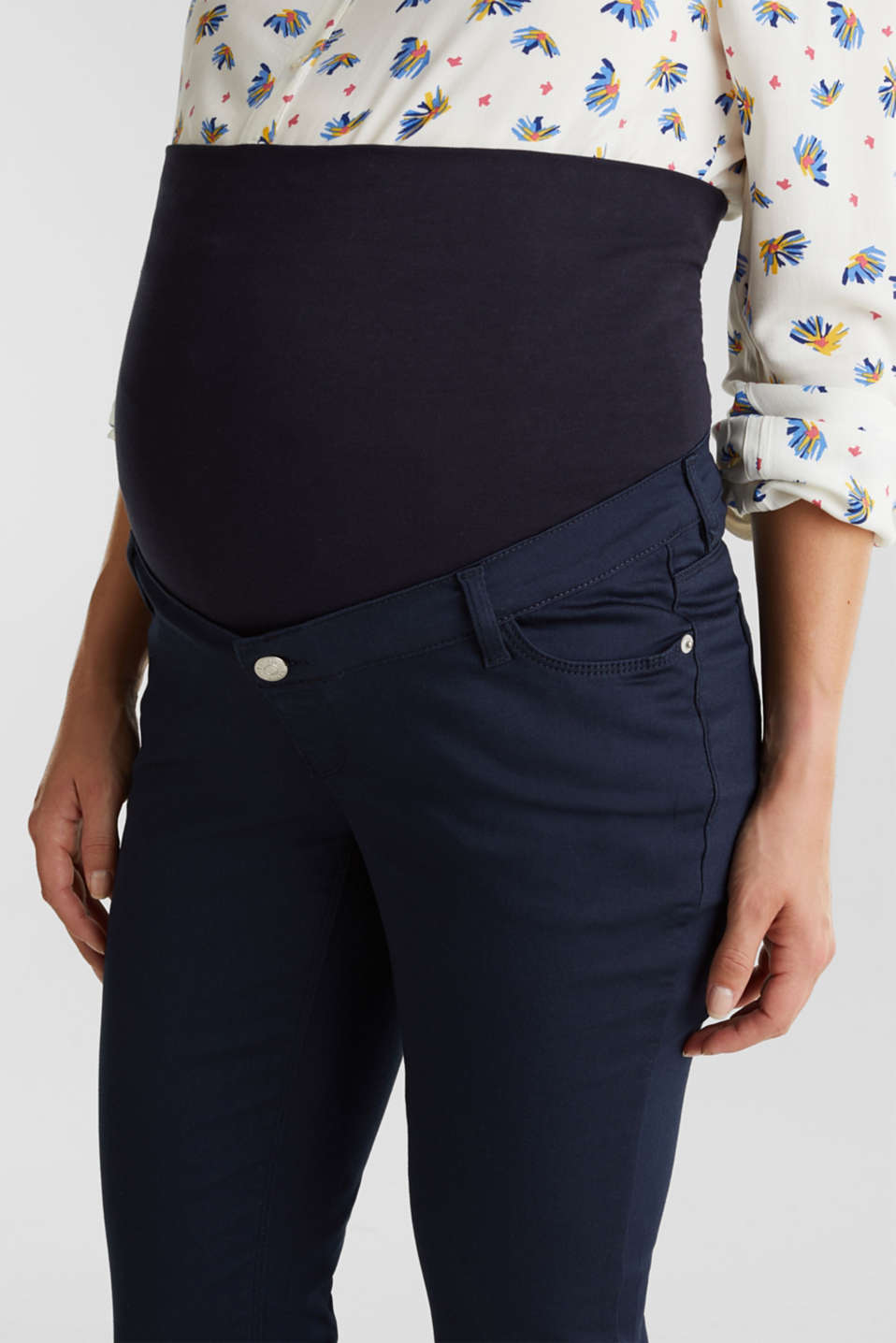 Ankle-length trousers, over-bump waistband, LCNIGHT BLUE, detail image number 2
