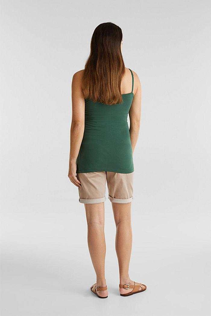 Stretch-Shorts mit Überbauchbund, BEIGE, detail image number 2