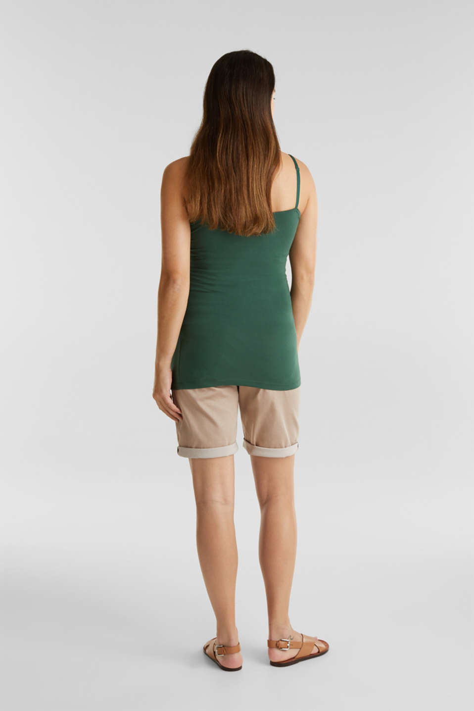 Stretch shorts with an over-bump waistband, LCBEIGE, detail image number 2