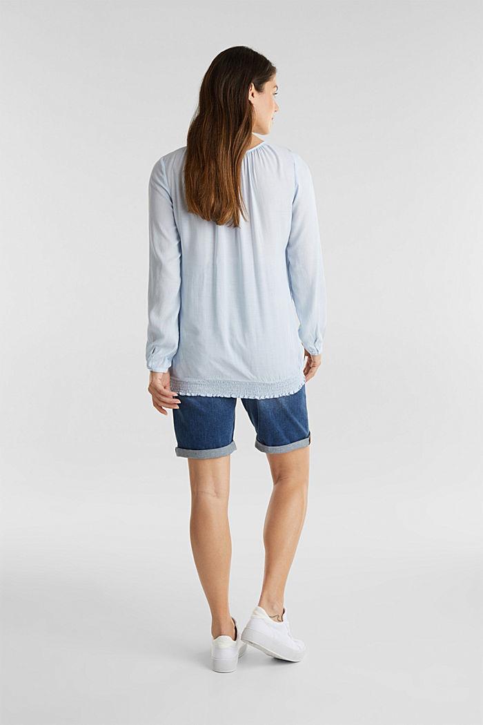 Denim-Shorts mit Überbauchbund, BLUE MEDIUM WASHED, detail image number 2