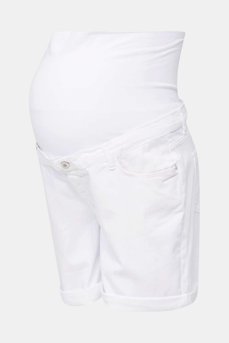 Denim shorts with an over-bump waistband, LCWHITE, detail image number 4