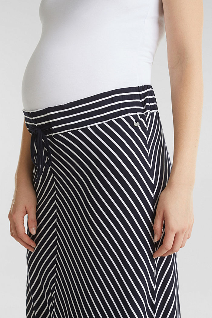 Striped skirt in stretch jersey, NIGHT BLUE, detail image number 2