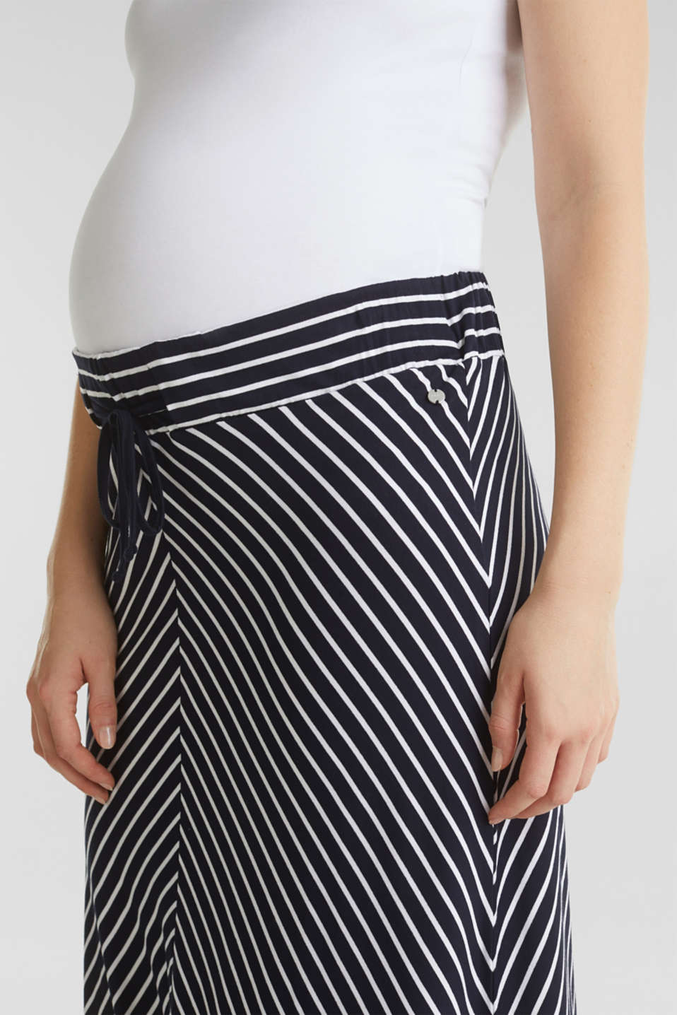 Striped skirt in stretch jersey, LCNIGHT BLUE, detail image number 2