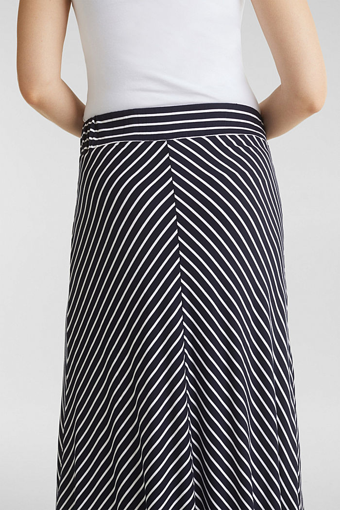 Striped skirt in stretch jersey, NIGHT BLUE, detail image number 5