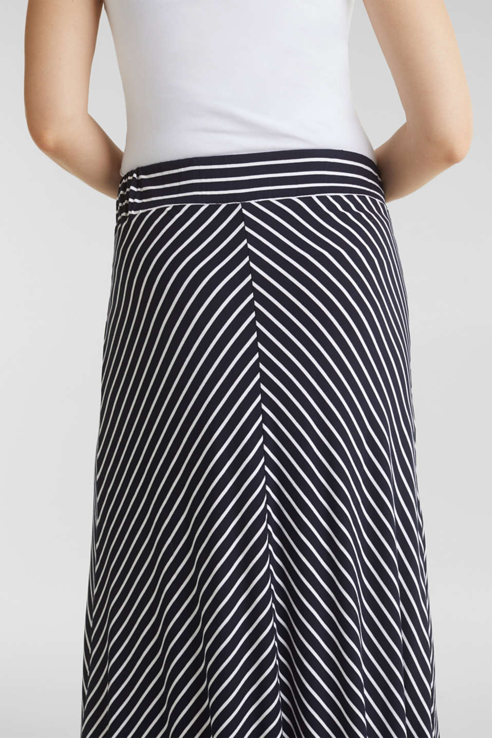 Striped skirt in stretch jersey, LCNIGHT BLUE, detail image number 5