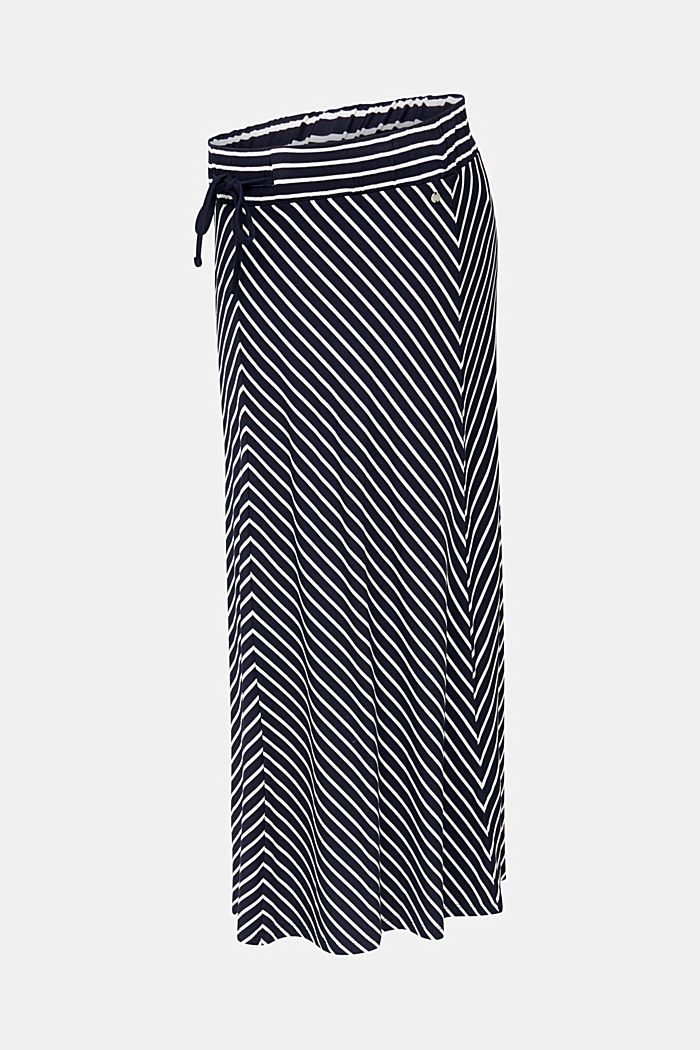 Striped skirt in stretch jersey, NIGHT BLUE, detail image number 6