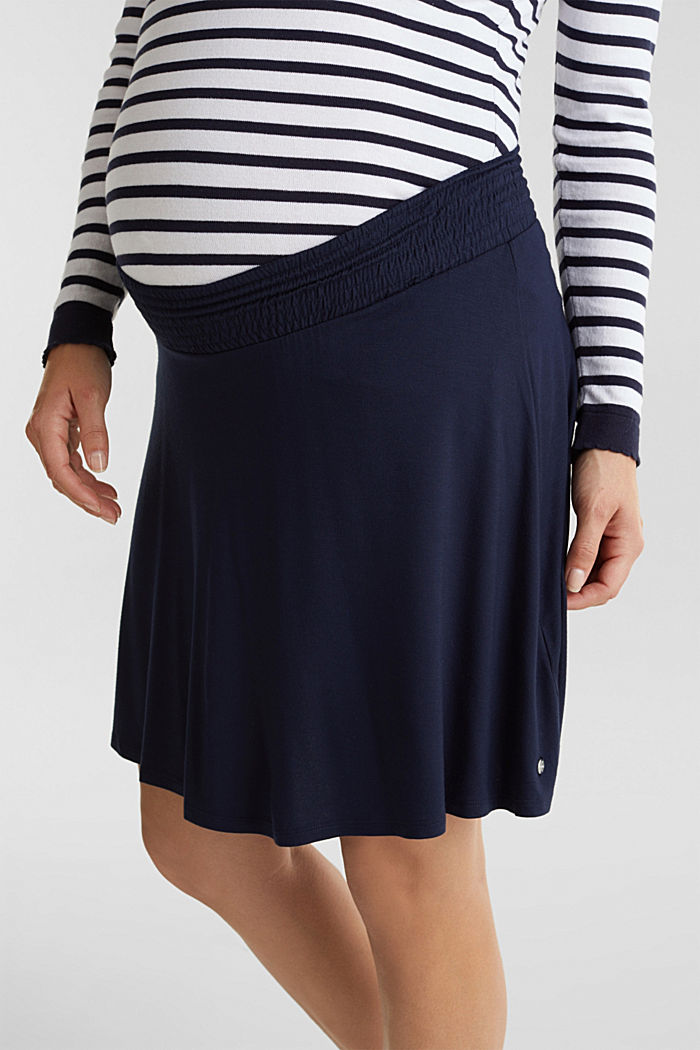 Flared skirt in stretch jersey, NIGHT BLUE, detail image number 2