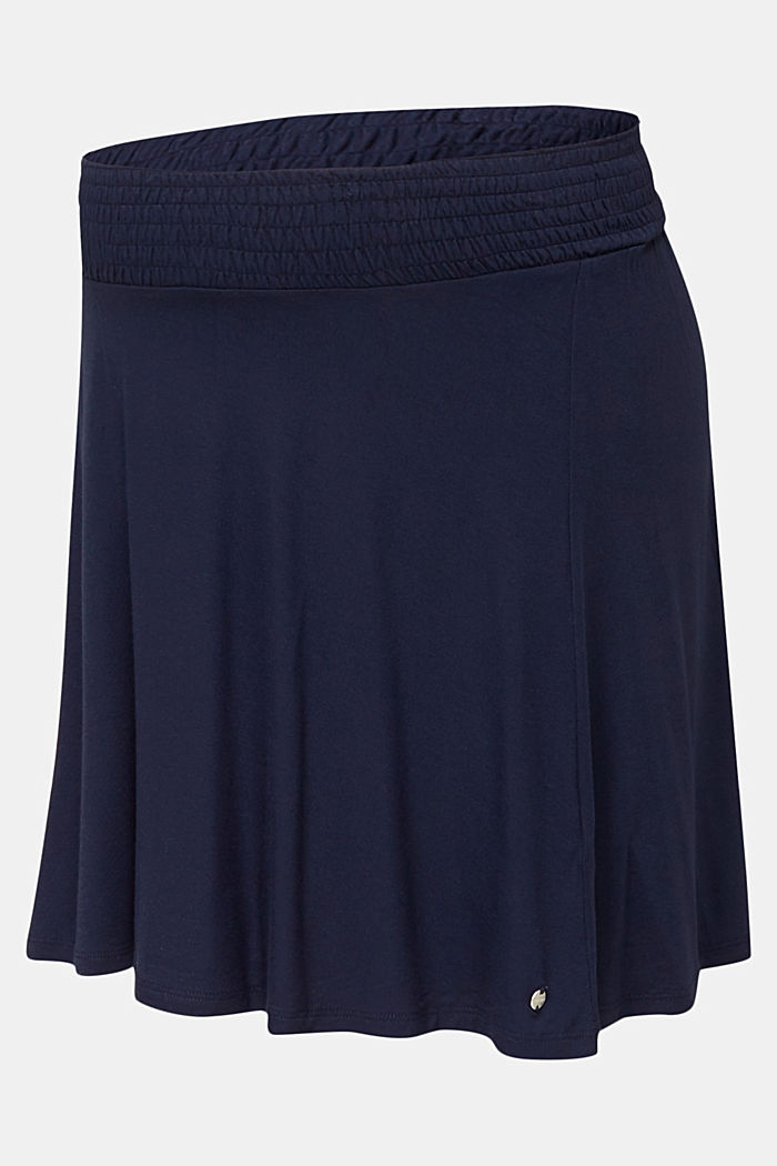 Flared skirt in stretch jersey, NIGHT BLUE, detail image number 6