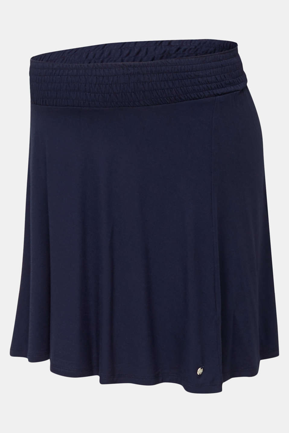 Flared skirt in stretch jersey, LCNIGHT BLUE, detail image number 6