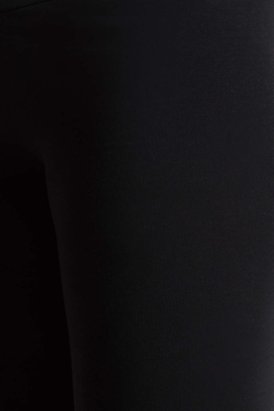 Capri leggings + under-bump waistband, LCBLACK, detail image number 4