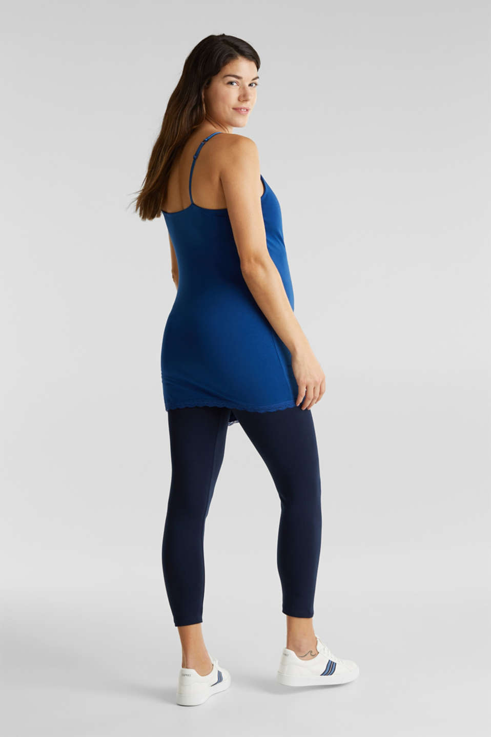 Capri leggings + under-bump waistband, LCNIGHT BLUE, detail image number 5