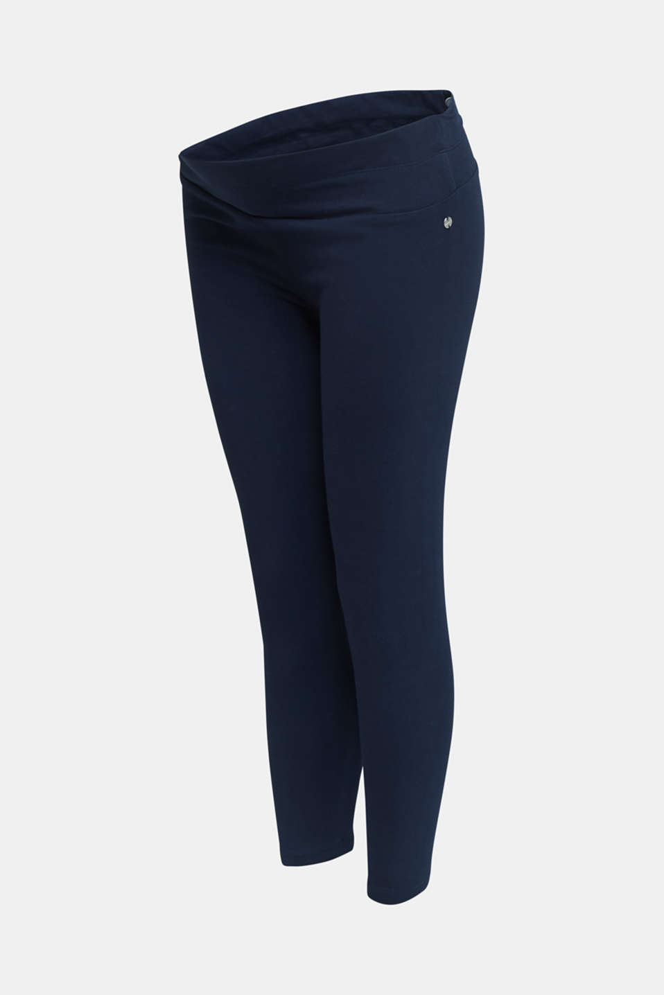 Capri leggings + under-bump waistband, LCNIGHT BLUE, detail image number 3
