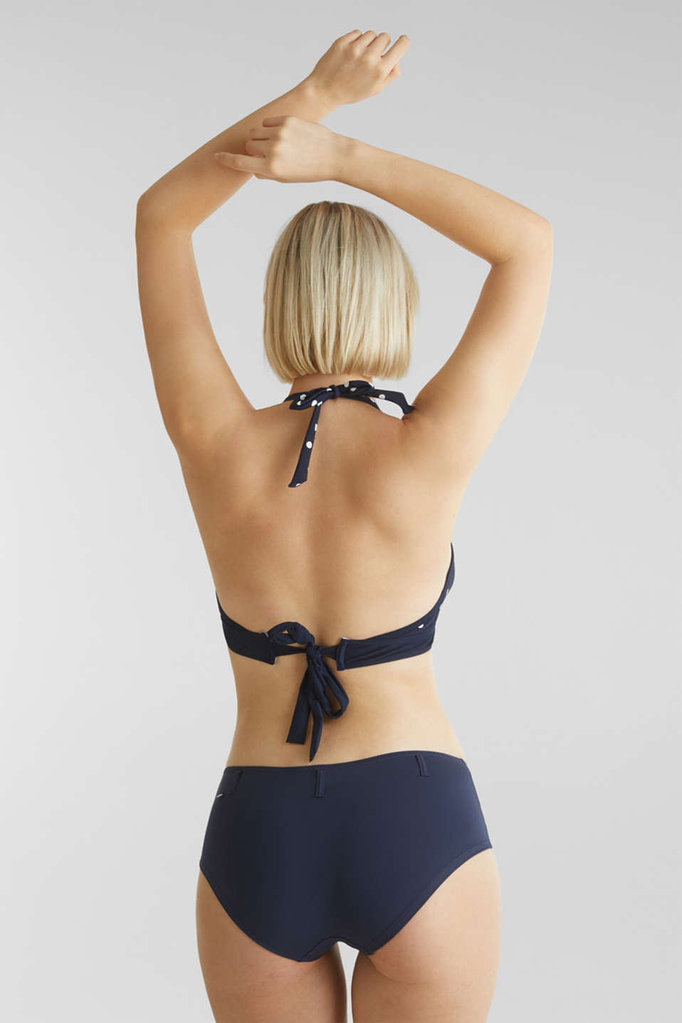 Padded halter neck bikini top, LCNIGHT BLUE, detail image number 2