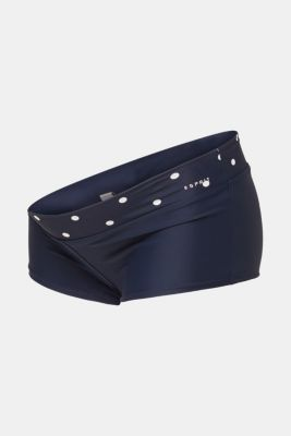 Shorts with a polka dot waistband, LCNIGHT BLUE, detail