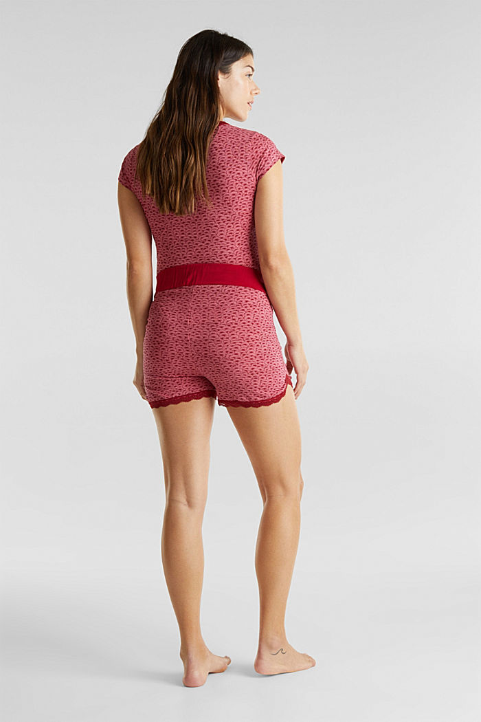 Jersey-Stretch-Shorts mit Spitze, BLUSH, detail image number 3