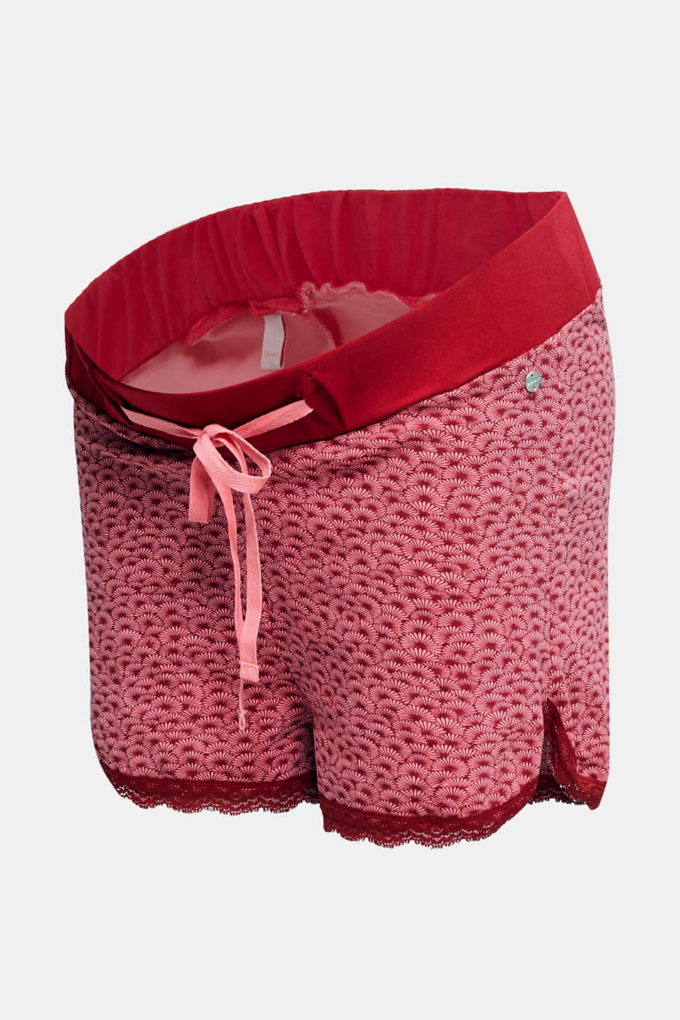 Stretch jersey shorts with lace, LCBLUSH, detail image number 6