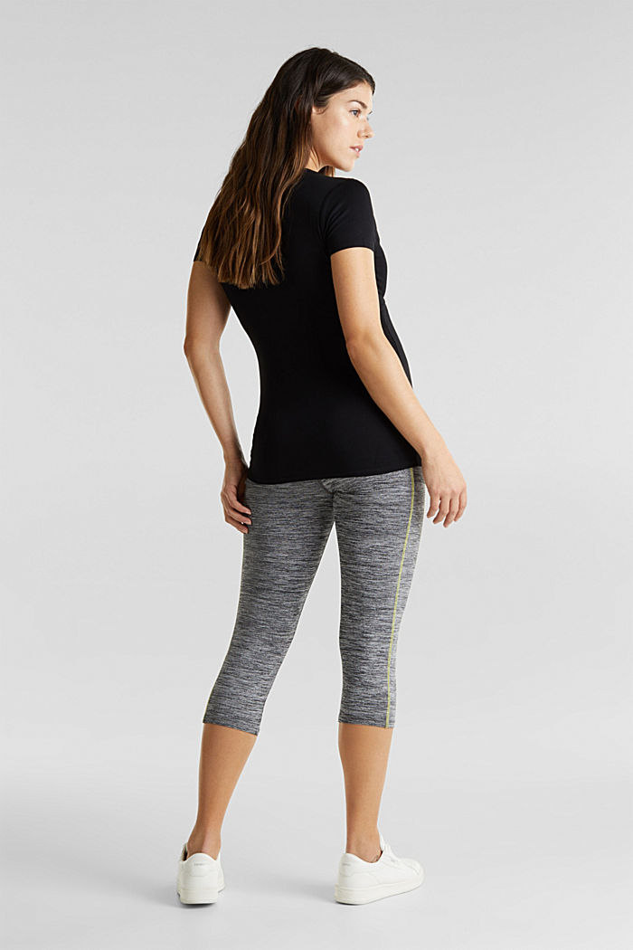 Capri leggings with an over-bump waistband, MEDIUM GREY, detail image number 3