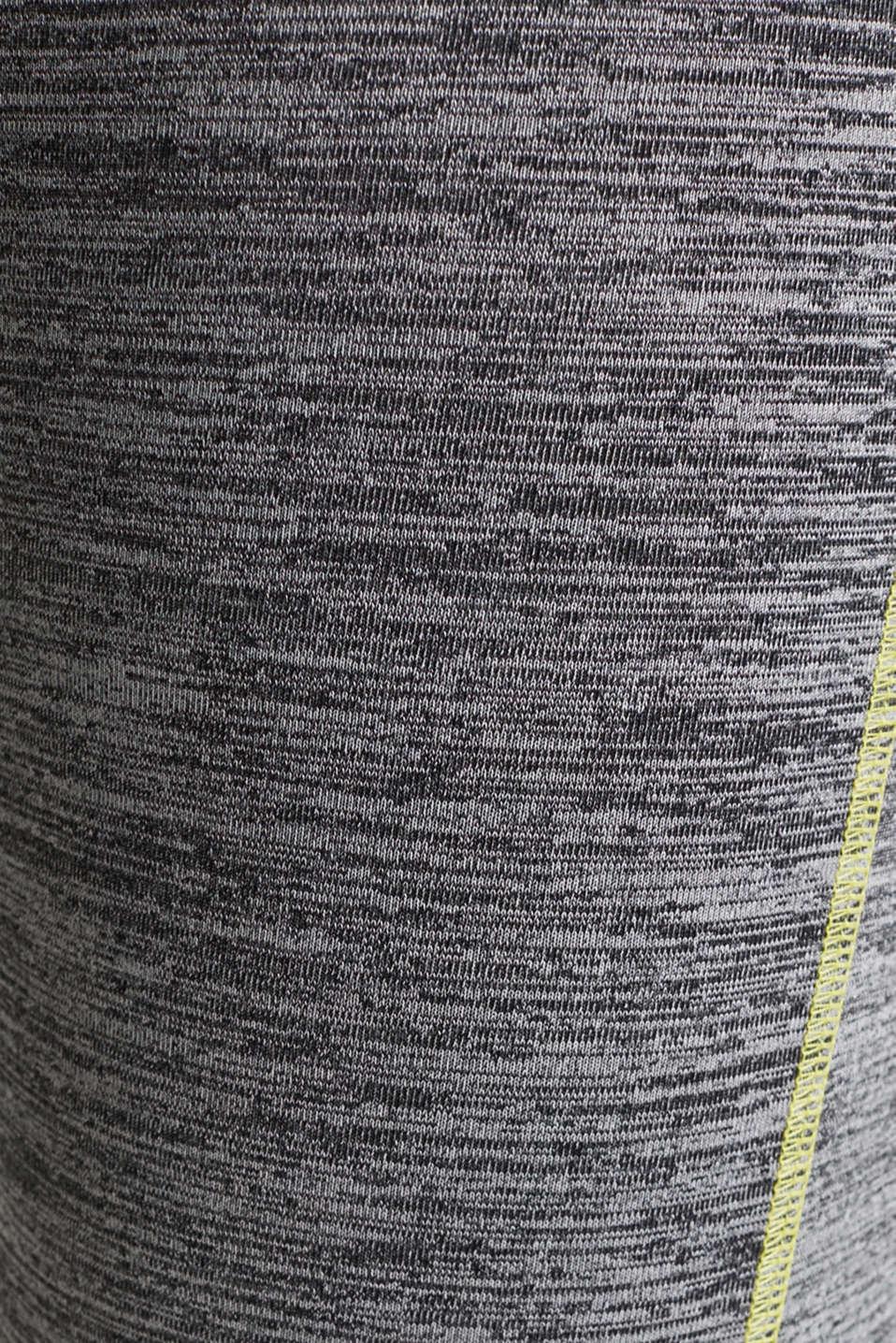 Capri leggings with an over-bump waistband, LCMEDIUM GREY, detail image number 4