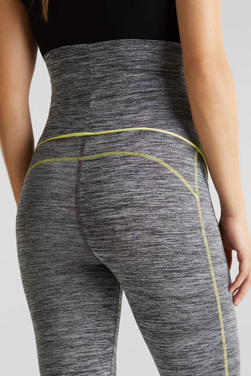 Capri leggings with an over-bump waistband, LCMEDIUM GREY, detail image number 5