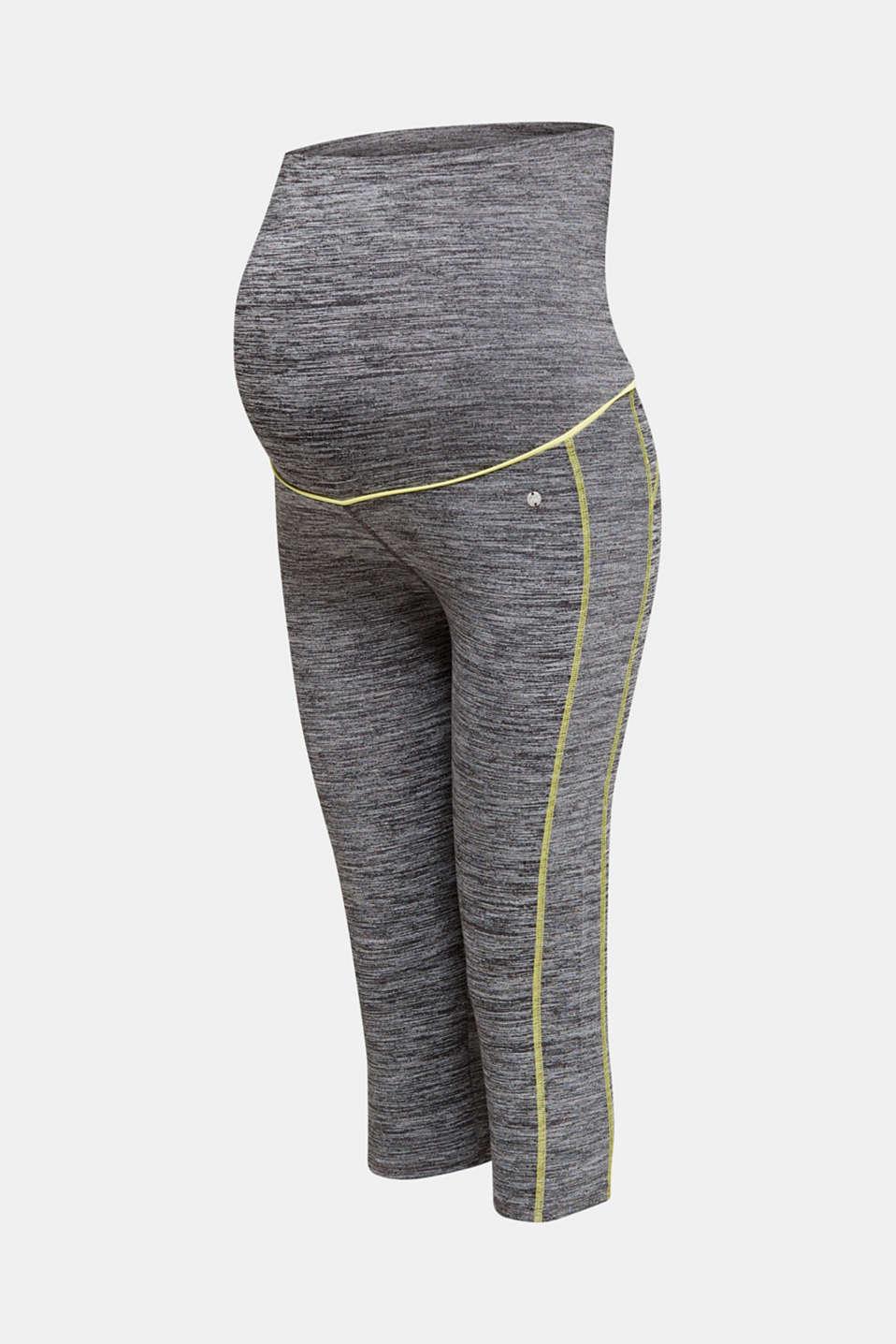 Capri leggings with an over-bump waistband, LCMEDIUM GREY, detail image number 6