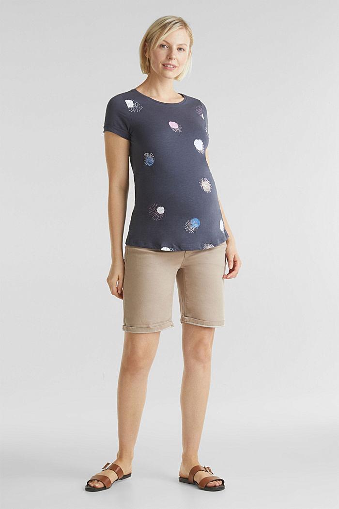 Slub-Shirt mit Print, 100% Baumwolle, GUNMETAL, detail image number 1