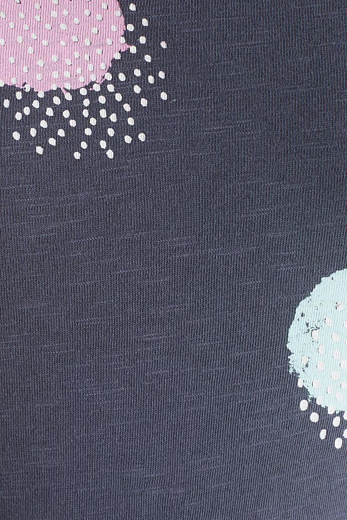 Slub-Shirt mit Print, 100% Baumwolle, GUNMETAL, detail image number 4