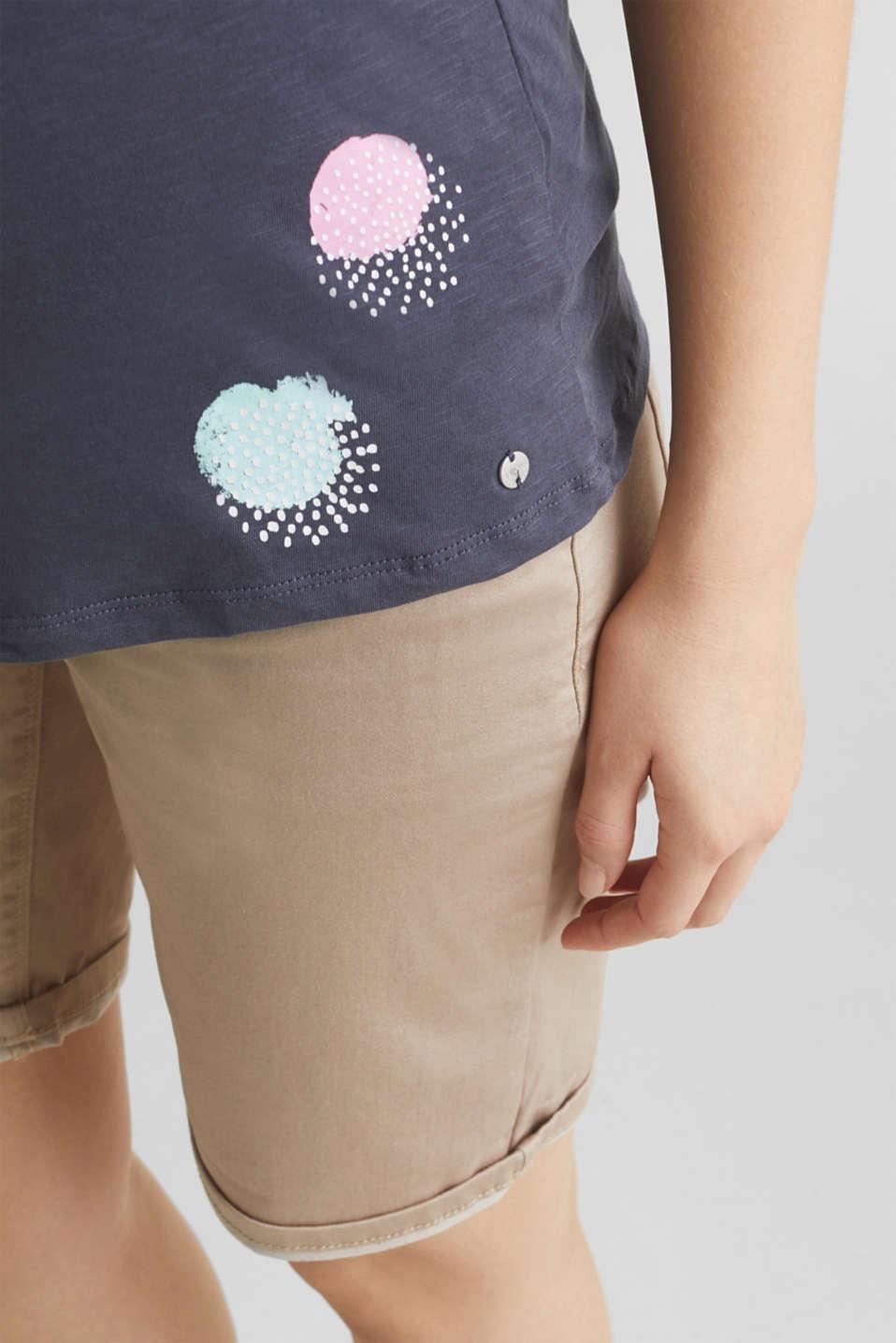 Slub T-shirt with print, 100% cotton, LCGUNMETAL, detail image number 5