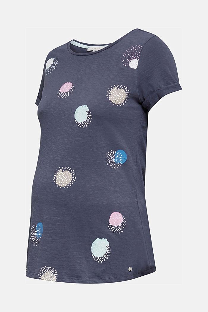 Slub-Shirt mit Print, 100% Baumwolle, GUNMETAL, detail image number 6