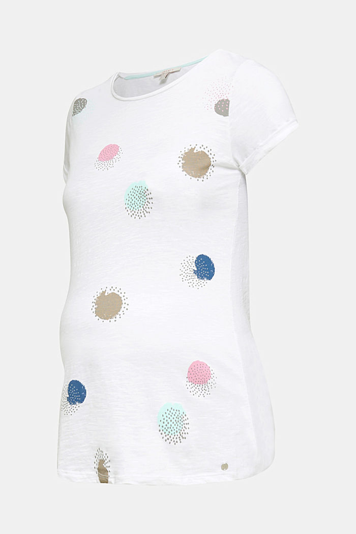 Slub T-shirt with print, 100% cotton, WHITE, detail image number 7