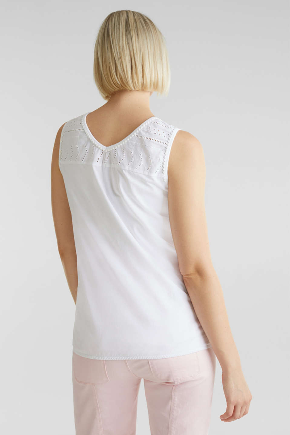 Top with embroidery, 100% cotton, LCWHITE, detail image number 3